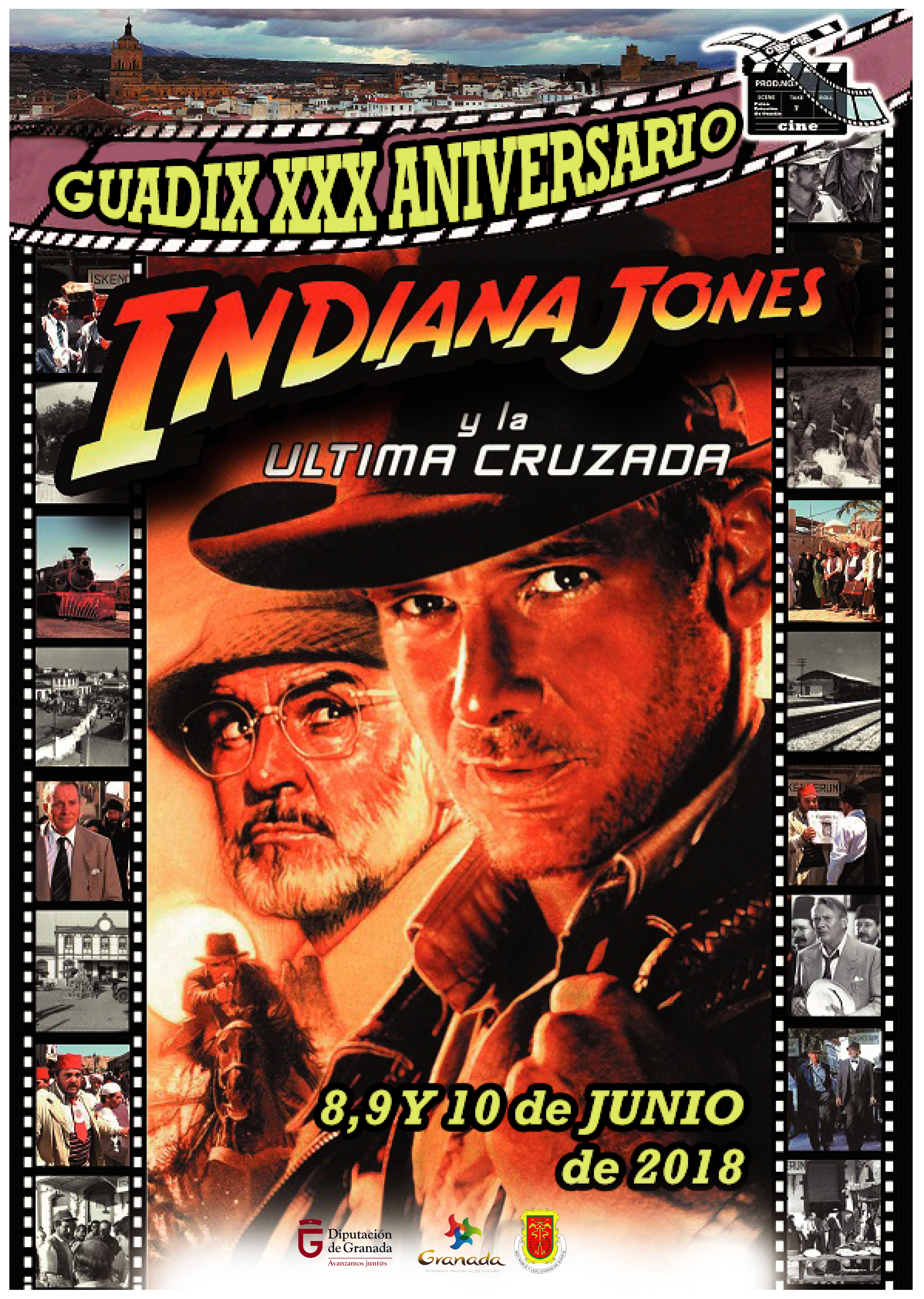 "Three days full of activities to celebrate the XXX Anniversary of the  filming of ""Indiana Jones and the Last Crusade"" in Guadix."